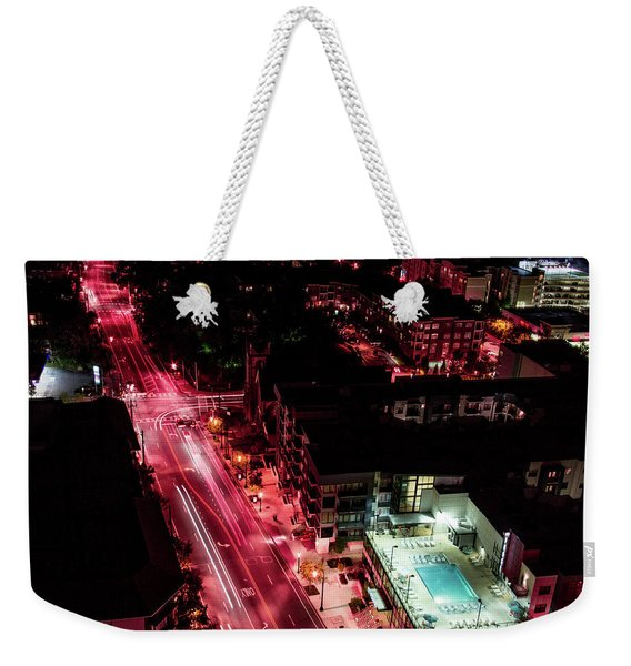 Red Streets Weekender Tote Bag