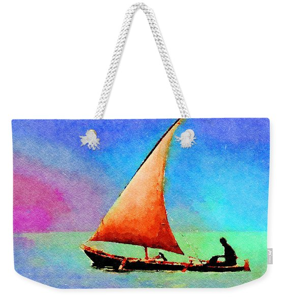 Red Sunset Weekender Tote Bag