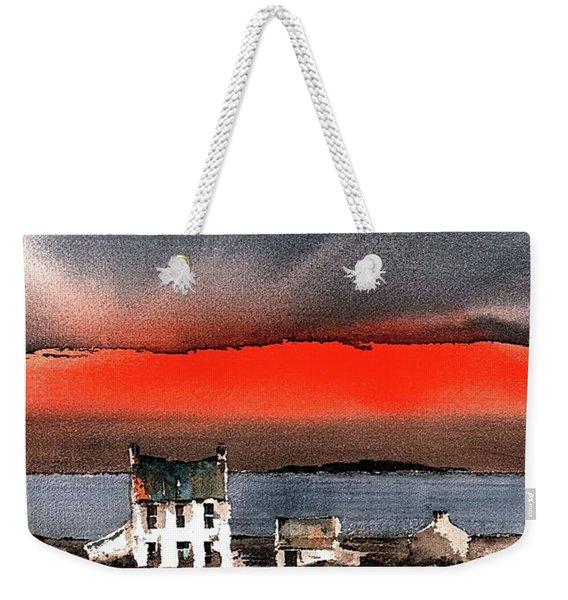 Red Sunset On Bungowla, Aran, Galway Weekender Tote Bag