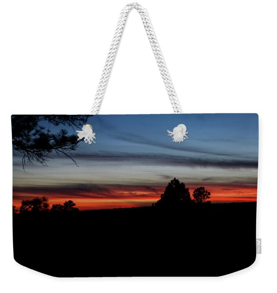 Weekender Tote Bag featuring the photograph Red Sunset Strip by Jason Coward