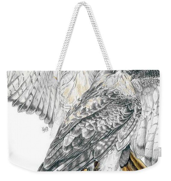 Red-tailed Hawk Weekender Tote Bag