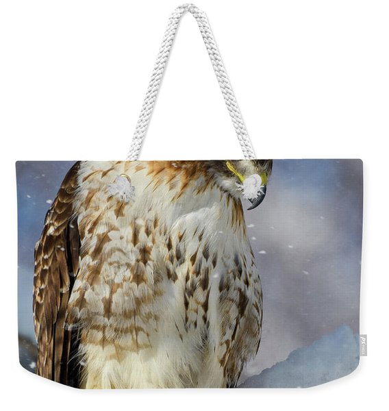 Red Tailed Hawk, Glamour Pose Weekender Tote Bag