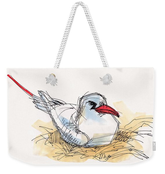 Red-tailed Tropicbird On Aitutaki Weekender Tote Bag