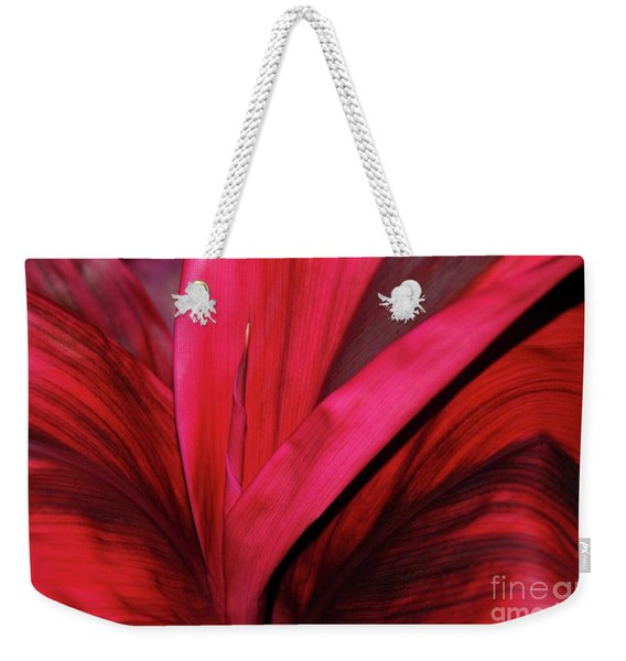 Red Ti Leaf Plant - Hawaii Weekender Tote Bag
