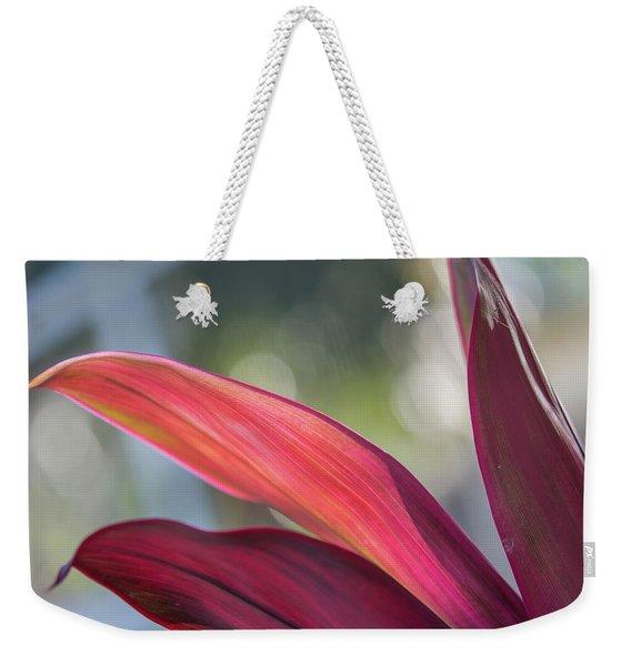 Red Ti Leaves 02 Weekender Tote Bag