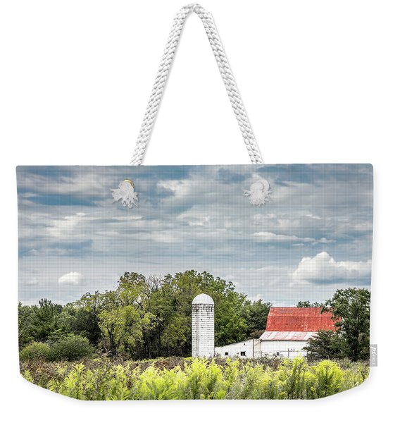 Red Tin Roof Weekender Tote Bag