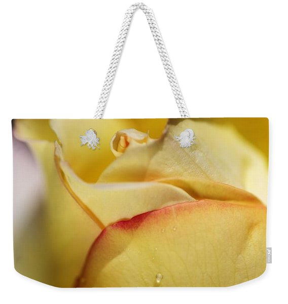 Red Tipped Yellow Rose Weekender Tote Bag