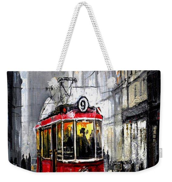 Red Tram Weekender Tote Bag