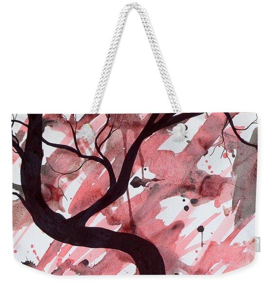 Red Tree Enchantment Weekender Tote Bag