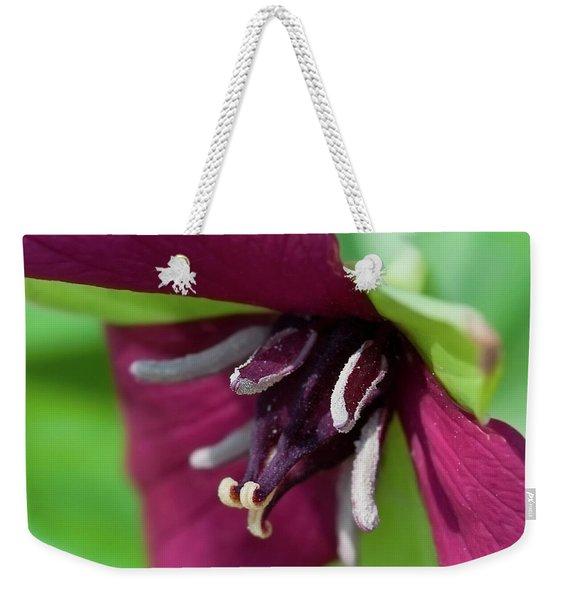 Red Trillium.. Weekender Tote Bag