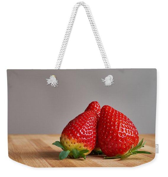 Red Trio Weekender Tote Bag