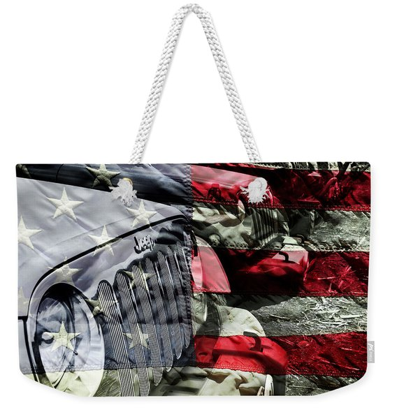 Red White And Jeep Weekender Tote Bag