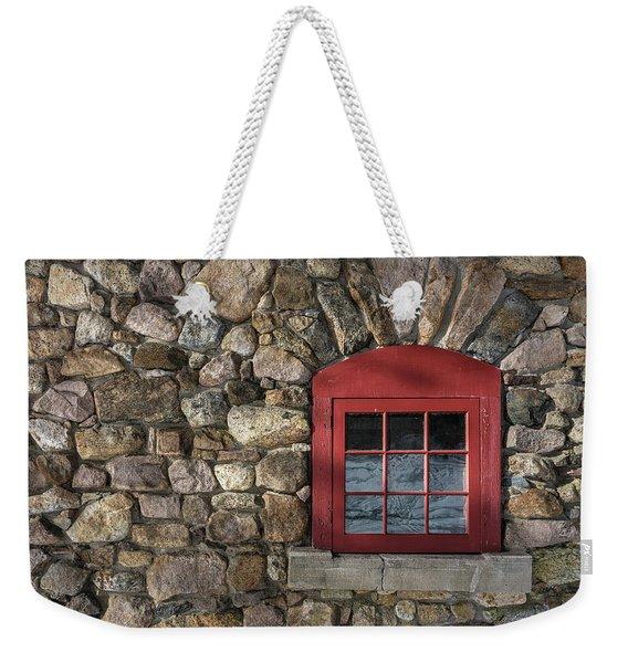 Red Window Weekender Tote Bag
