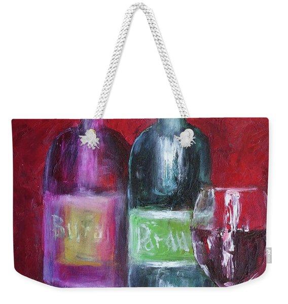 Red Wine Art Weekender Tote Bag