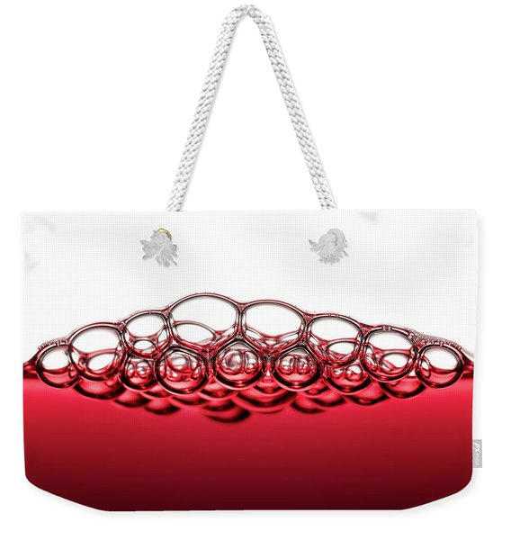Red Wine Bubbles Weekender Tote Bag