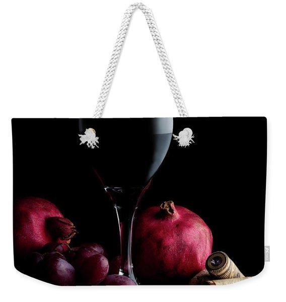 Red Wine With Fruit Weekender Tote Bag