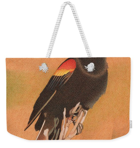 Red-winged Blackbird 3 Weekender Tote Bag