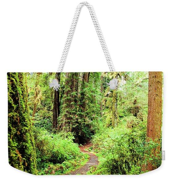 Red Woods Trail Weekender Tote Bag