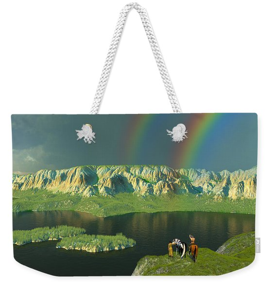Redemption For An Angry Sky Weekender Tote Bag