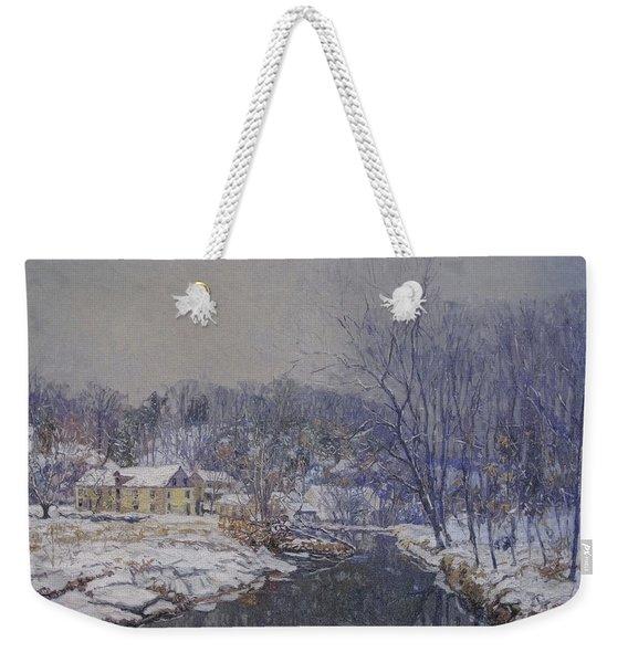 Redfield's The Mill In Winter Weekender Tote Bag