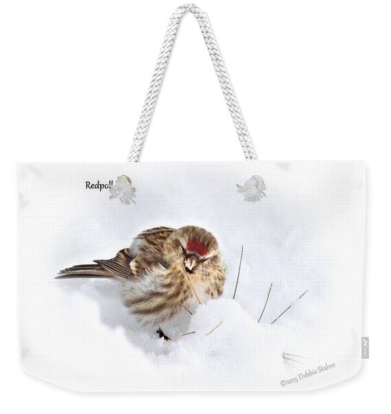 Redpoll Weekender Tote Bag