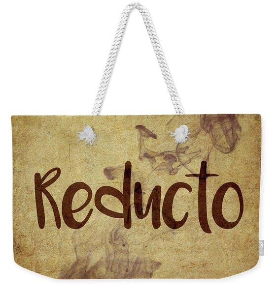 Reducto Weekender Tote Bag