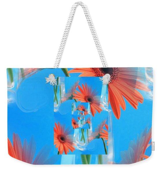 Redundant Gerbera Daisy Weekender Tote Bag