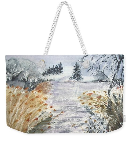 Reeds On The Riverbank No.2 Weekender Tote Bag