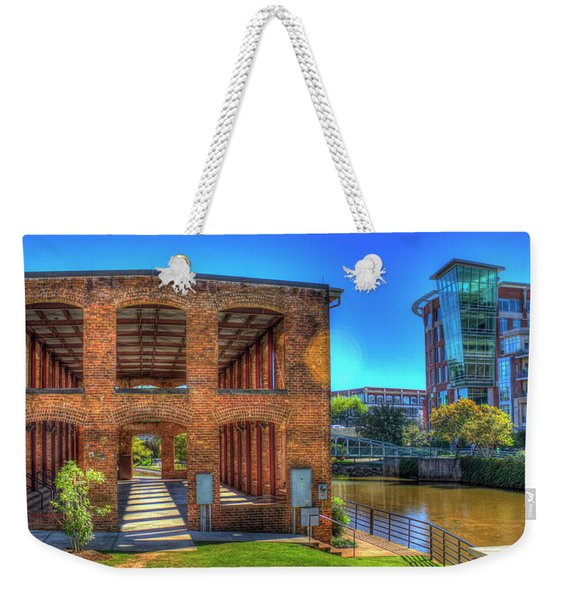 Reedy River Mill Venue Greenville South Caroline Art Weekender Tote Bag