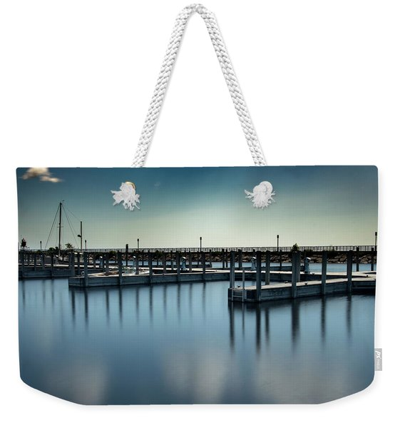 Reflected Harbor Weekender Tote Bag