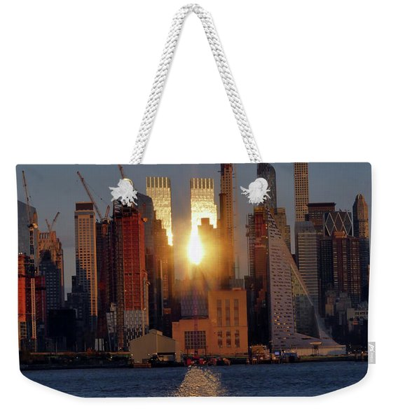 Reflected Sunset Weekender Tote Bag