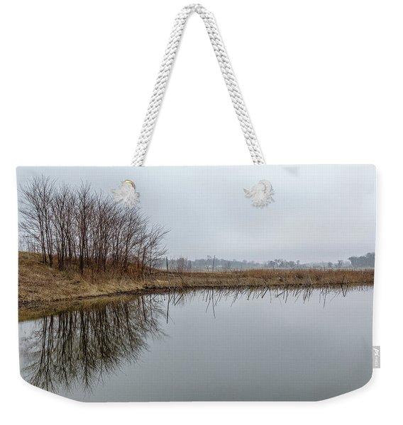 Reflected Trees Weekender Tote Bag