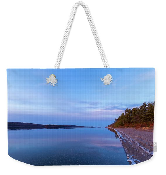 Weekender Tote Bag featuring the photograph Reflecting At The Reservoir by Brian Hale