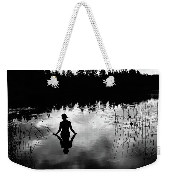 Reflecting Beauty Bow Weekender Tote Bag