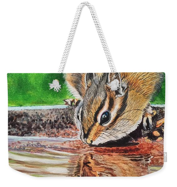 Reflecting On The Day Weekender Tote Bag
