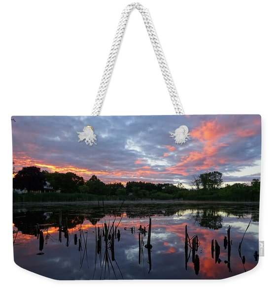 Reflecting The Day Weekender Tote Bag