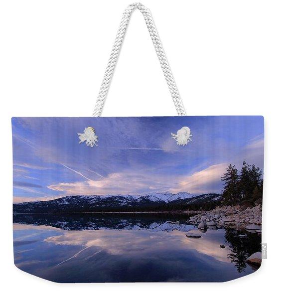 Reflection In Winter Weekender Tote Bag