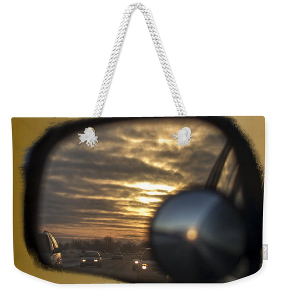 Reflection Of A Sunset Weekender Tote Bag