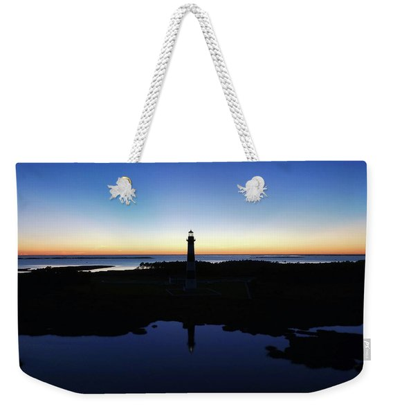 Reflection Of Bodie Light At Sunset Weekender Tote Bag