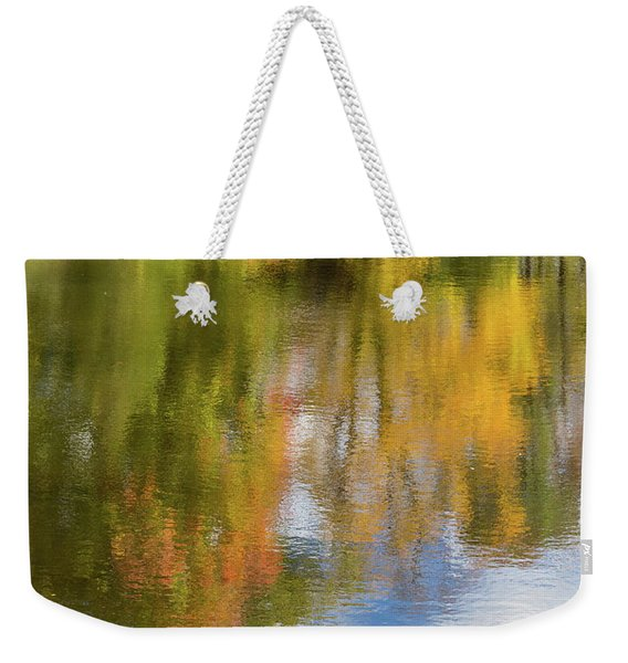 Reflection Of Fall #1, Abstract Weekender Tote Bag