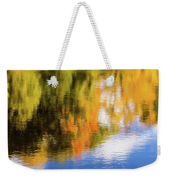 Reflection Of Fall #2, Abstract Weekender Tote Bag