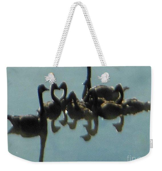 Reflection Of Geese Weekender Tote Bag