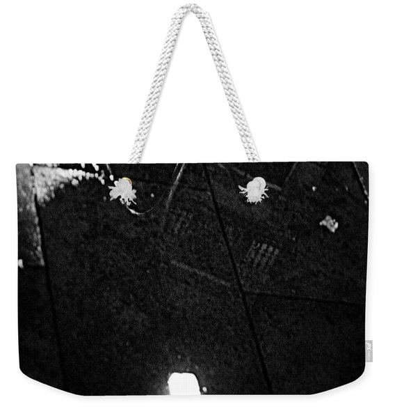 Reflection Of Wet Street Weekender Tote Bag