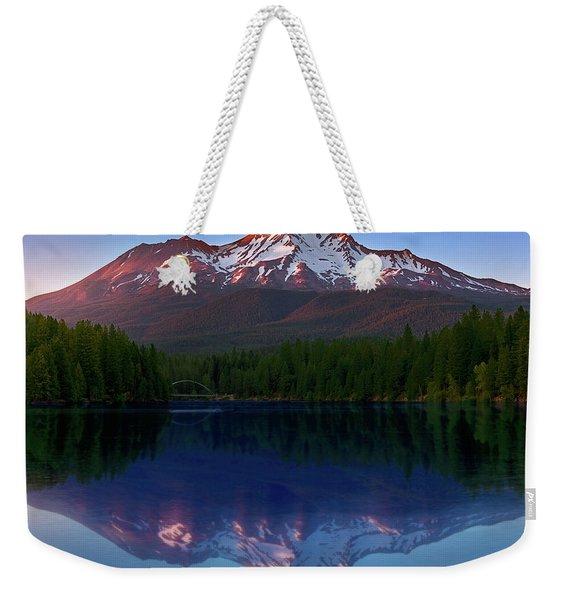 Reflection On California's Lake Siskiyou Weekender Tote Bag