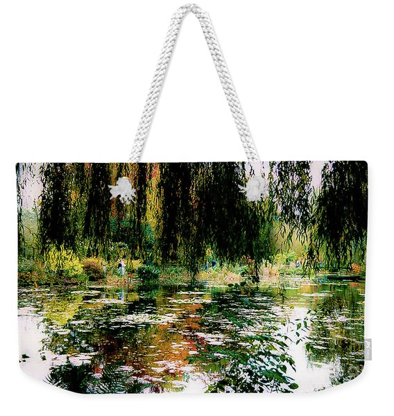 Reflection On Oscar - Claude Monet's Garden Pond Weekender Tote Bag