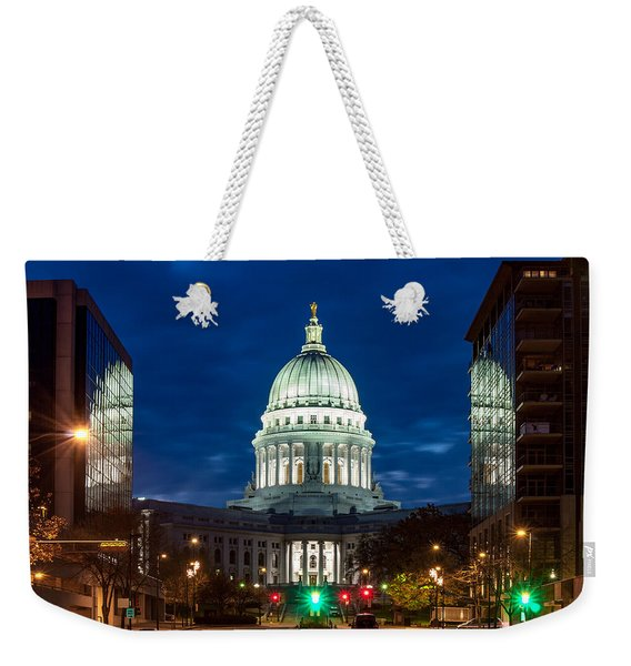 Reflection Surrounded Weekender Tote Bag