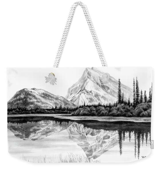 Reflections - Mountain Landscape Print Weekender Tote Bag