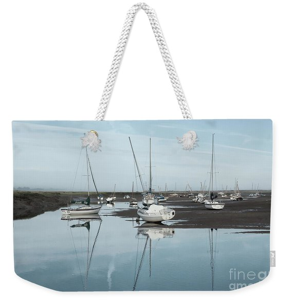Reflections At Brancaster Staithe Norfolk Weekender Tote Bag