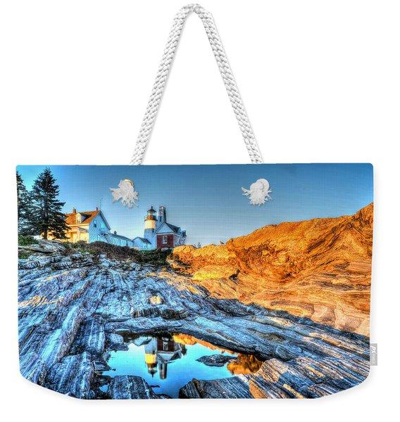 Reflections At Pemaquid Point Weekender Tote Bag