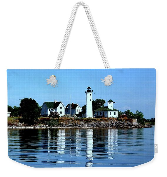 Reflections At Tibbetts Point Lighthouse Weekender Tote Bag